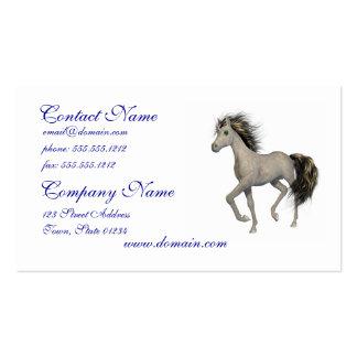 Tarjetas de visita de oro del unicornio