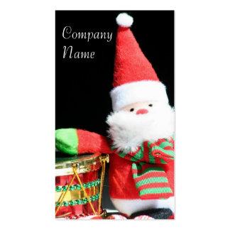 Tarjetas de visita de Papá Noel del navidad