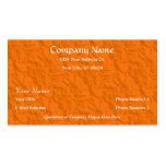 Tarjetas de visita de papel arrugadas naranja del