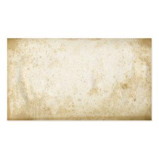 Tarjetas de visita de papel manchadas sucias del