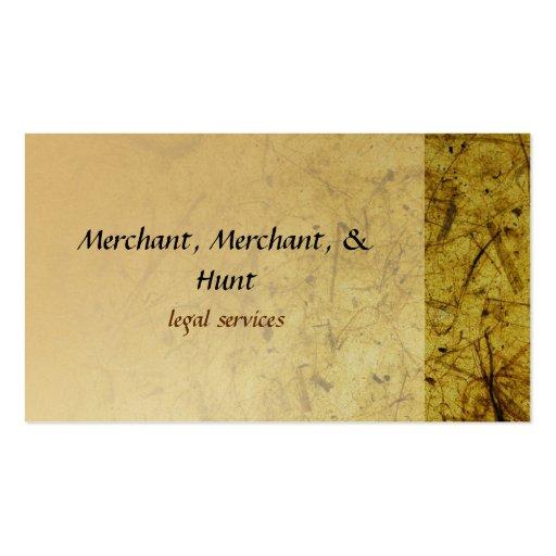 Tarjetas de visita de papel texturizadas oro