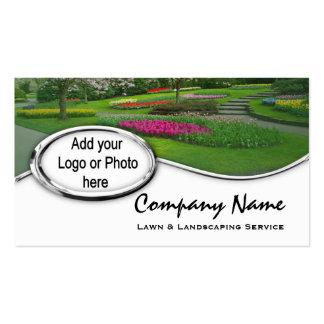 Tarjetas de visita de plata de la foto del logotip