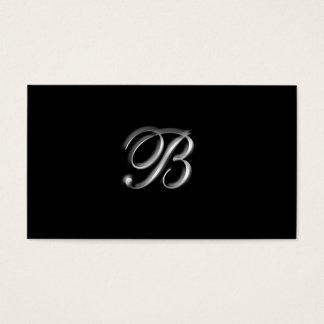 Tarjetas de visita de plata del monograma B