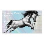 Tarjetas de visita de plata del unicornio