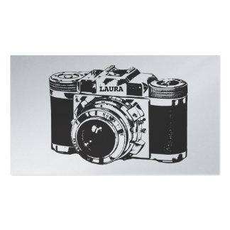 Tarjetas de visita de plata retras del fotógrafo