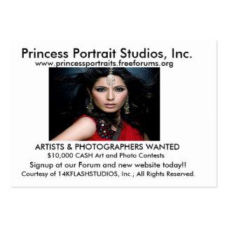 Tarjetas de visita de princesa Portraits FORUM
