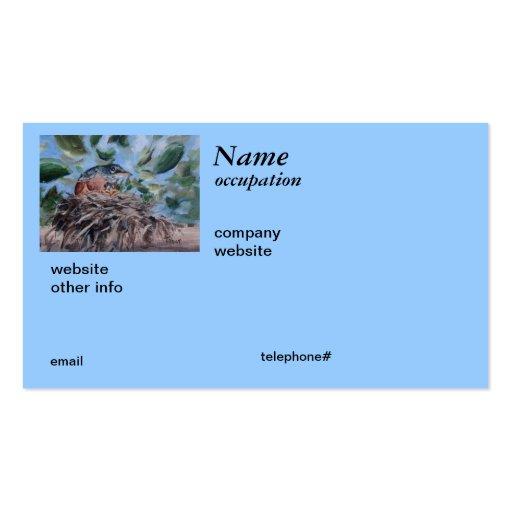 Tarjetas de visita de protección del petirrojo