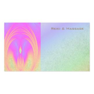 Tarjetas de visita de Reiki del arco iris del
