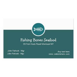 Tarjetas de visita de restaurante de los mariscos