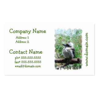Tarjetas de visita de risa de Kookaburra