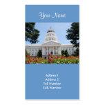 Tarjetas de visita de Sacramento del capitolio del