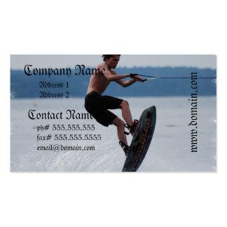 Tarjetas de visita de salto del Wakeboarder