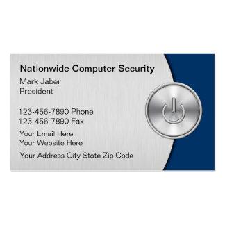 Tarjetas de visita de seguridad informática