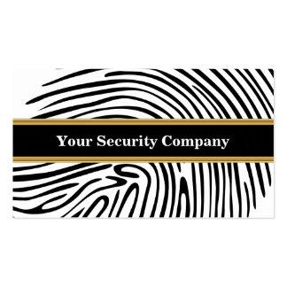 Tarjetas de visita de seguridad
