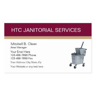 Tarjetas de visita de servicios de limpieza