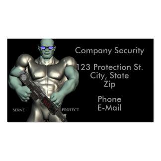 Tarjetas de visita de servicios del guardia de seg