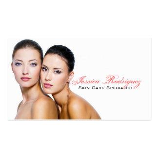 Tarjetas de visita de Skincare de la belleza del