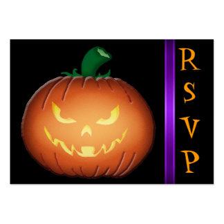 Tarjetas de visita de Sr. Spooky Jack O Lantern RS