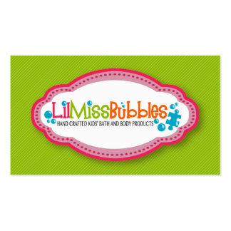 Tarjetas de visita de Srta Bubbles de Lil 10 201