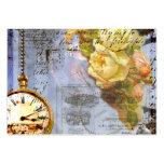 Tarjetas de visita de Steampunk de los rosas amari