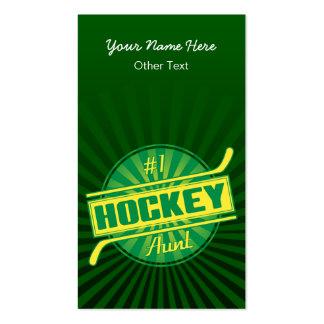 Tarjetas de visita de tía Customized del hockey 1