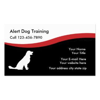 Tarjetas de visita de Traning del perro