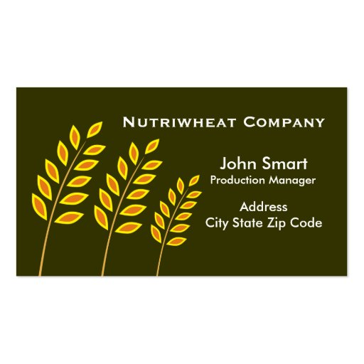 Tarjetas de visita de Wheat Company