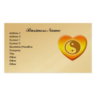 Tarjetas de visita de Ying Yang del corazón