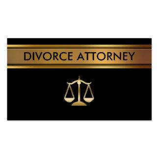Tarjetas de visita del abogado del divorcio
