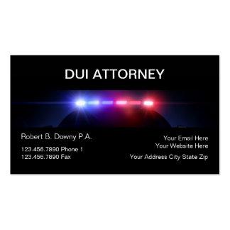 Tarjetas de visita del abogado del DUI