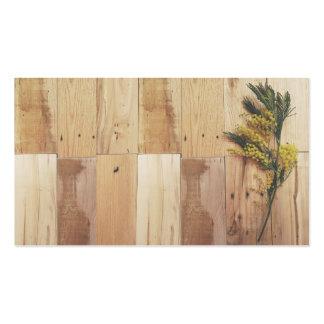 Tarjetas de visita del acacia y de madera