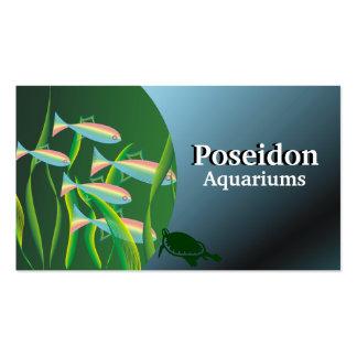 Tarjetas de visita del acuario