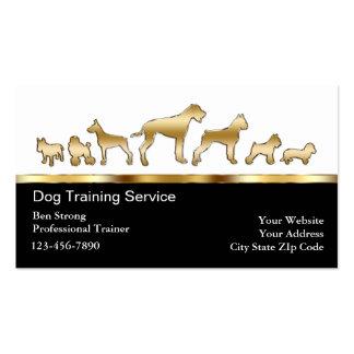 Tarjetas de visita del adiestrador de perros