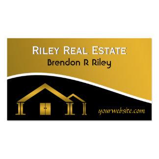 Tarjetas de visita del agente inmobiliario