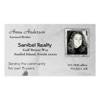 Tarjetas de visita del agente inmobiliario de la i