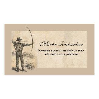 tarjetas de visita del archer del arquero
