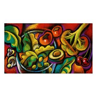 Tarjetas de visita del arte de la ensalada de la