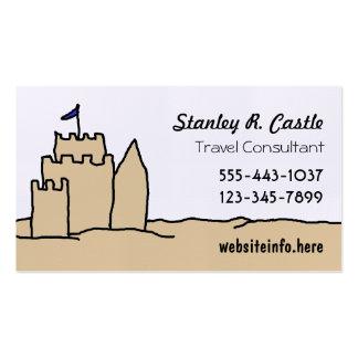 Tarjetas de visita del arte del castillo de la