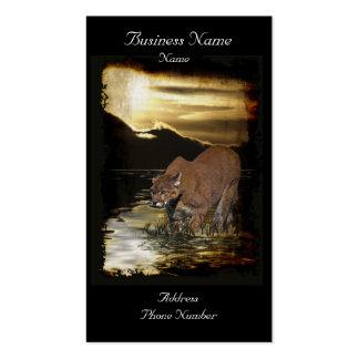 Tarjetas de visita del arte del Montaña-León del p