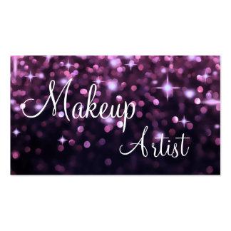 Tarjetas de visita del artista de maquillaje