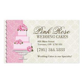 Tarjetas de visita del artista del pastel de bodas