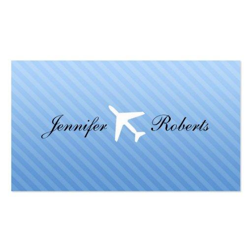 Tarjetas de visita del asistente de vuelo