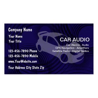 Tarjetas de visita del audio para el automóvil
