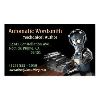 Tarjetas de visita del autor (robot)