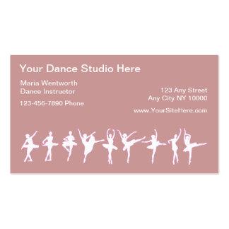 Tarjetas de visita del baile del ballet