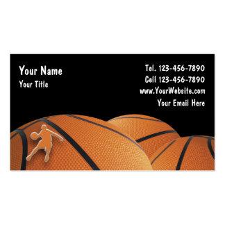 Tarjetas de visita del baloncesto