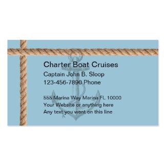Tarjetas de visita del barco de la carta