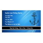 Tarjetas de visita del barco de pesca