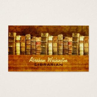 Tarjetas de visita del bibliotecario