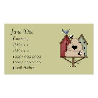 Tarjetas de visita del Birdhouse